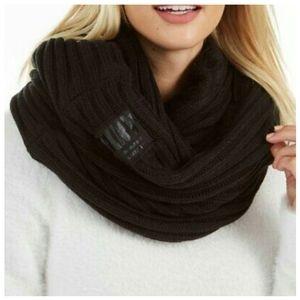 DKNY Fleece-Lined Knit Infinity Scarf.